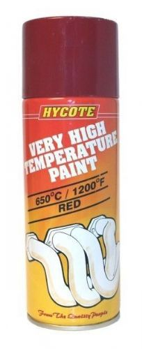 Very High Temperature Paint VHT Hycote Paint Red 400ml